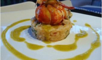 ANNIVERSARY:  Lobster Risotto with Snow Pea Sauce