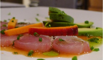 BAJA MED CUISINE:  Hamachi with Avocado Two Ways