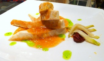 RECIPE:  Sous Vide Chicken Breast with Sherry Chipotle Sauce and Pickled Chayote