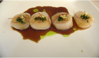 RECIPE:  Scallops with Ginger, Chives and Yuzu-Soy Sauce
