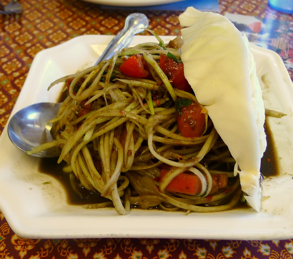 Lao Papaya Salad (with Padaek) 2