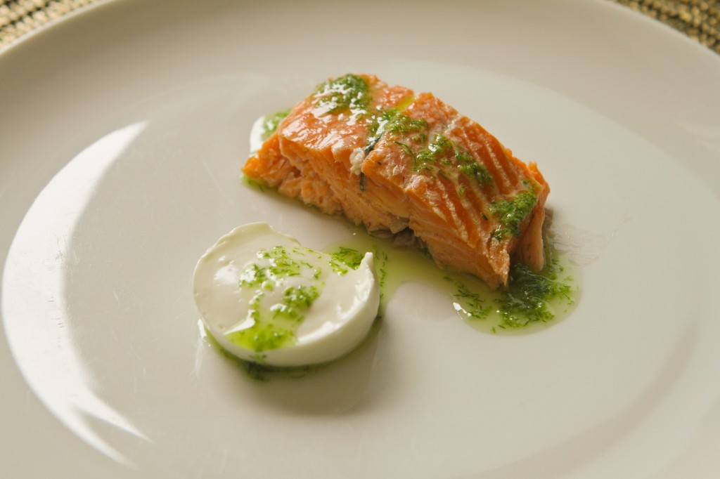 Smoked Steelhead Trout with Goat Cheese Parfait