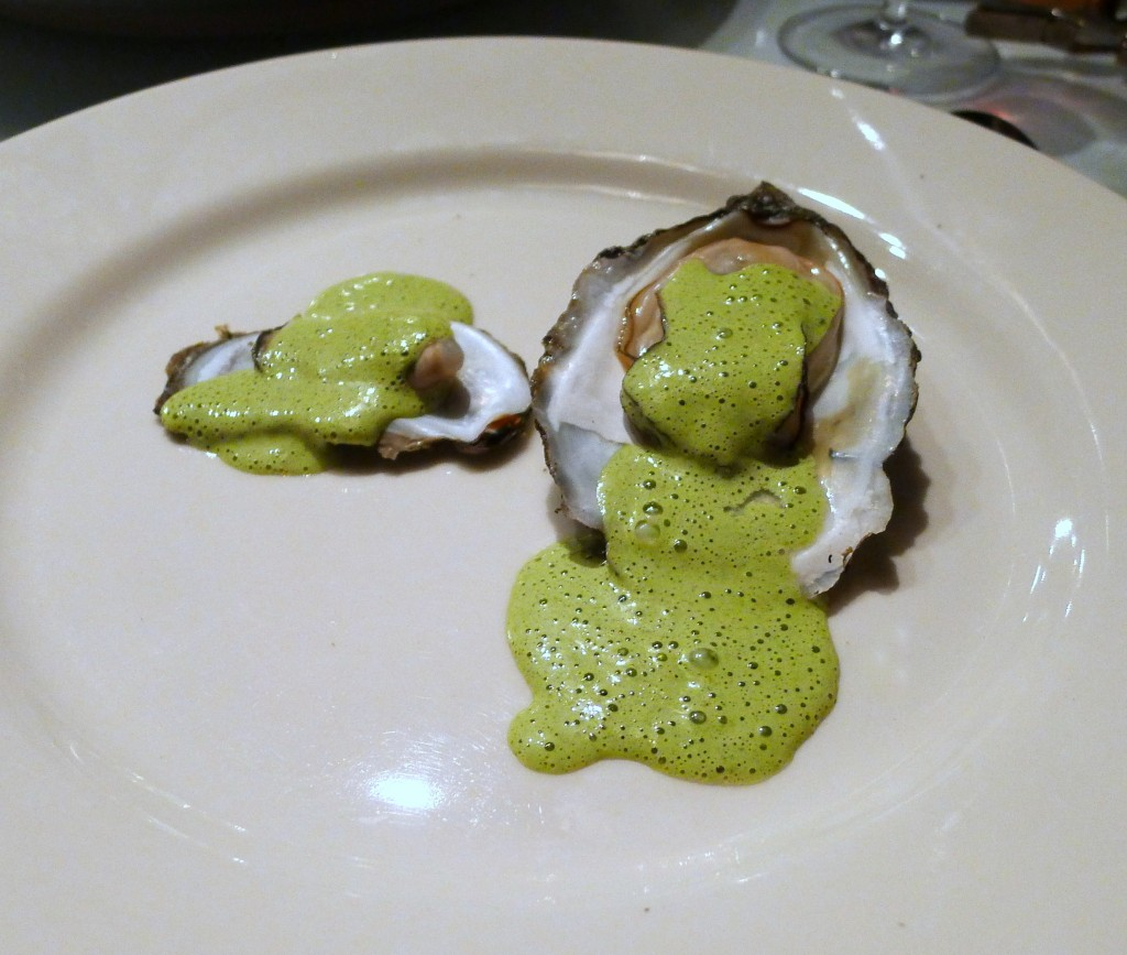 Grilled Oysters with Tarragon and Red Wine Vinegar Bearnaise