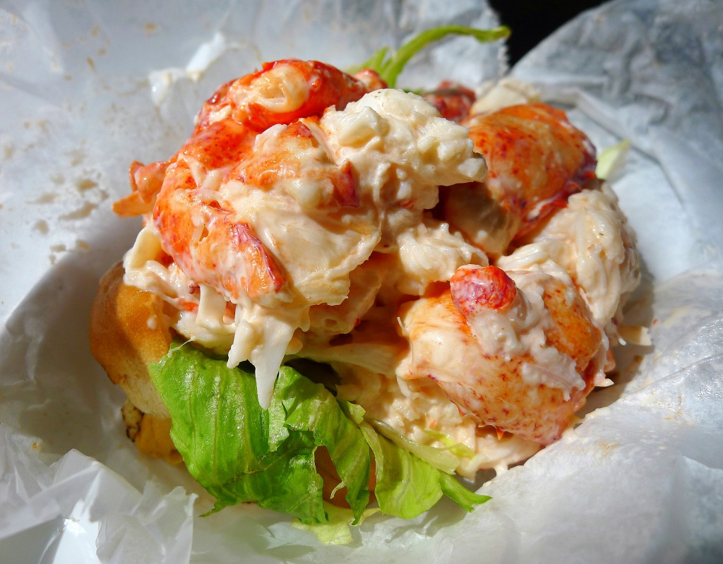 Lobstah roll at Belle Isle