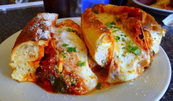 WORLD FARE:  Caps Pizza & Beer excels with its eggplant parmigiana