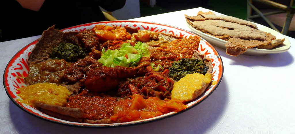 Vegetarian combination at Harar