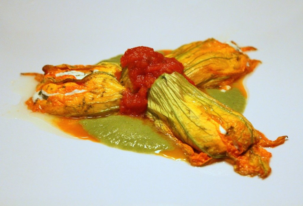 Stuffed Zucchini Blossoms | Sweet Pea Sauce 1