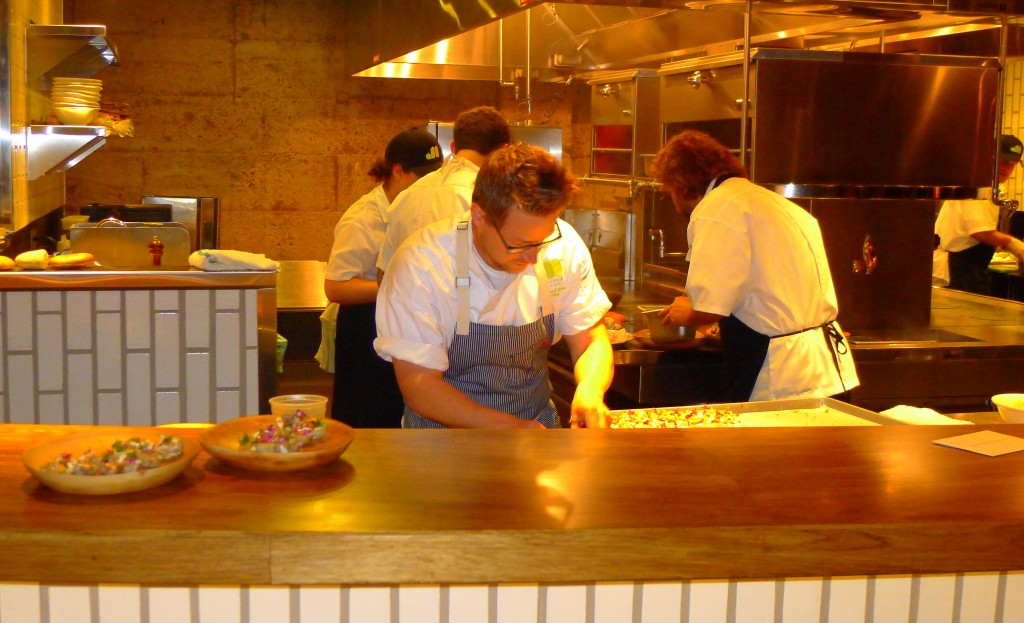 Richard Blais in the Juniper & Ivy open kitchen