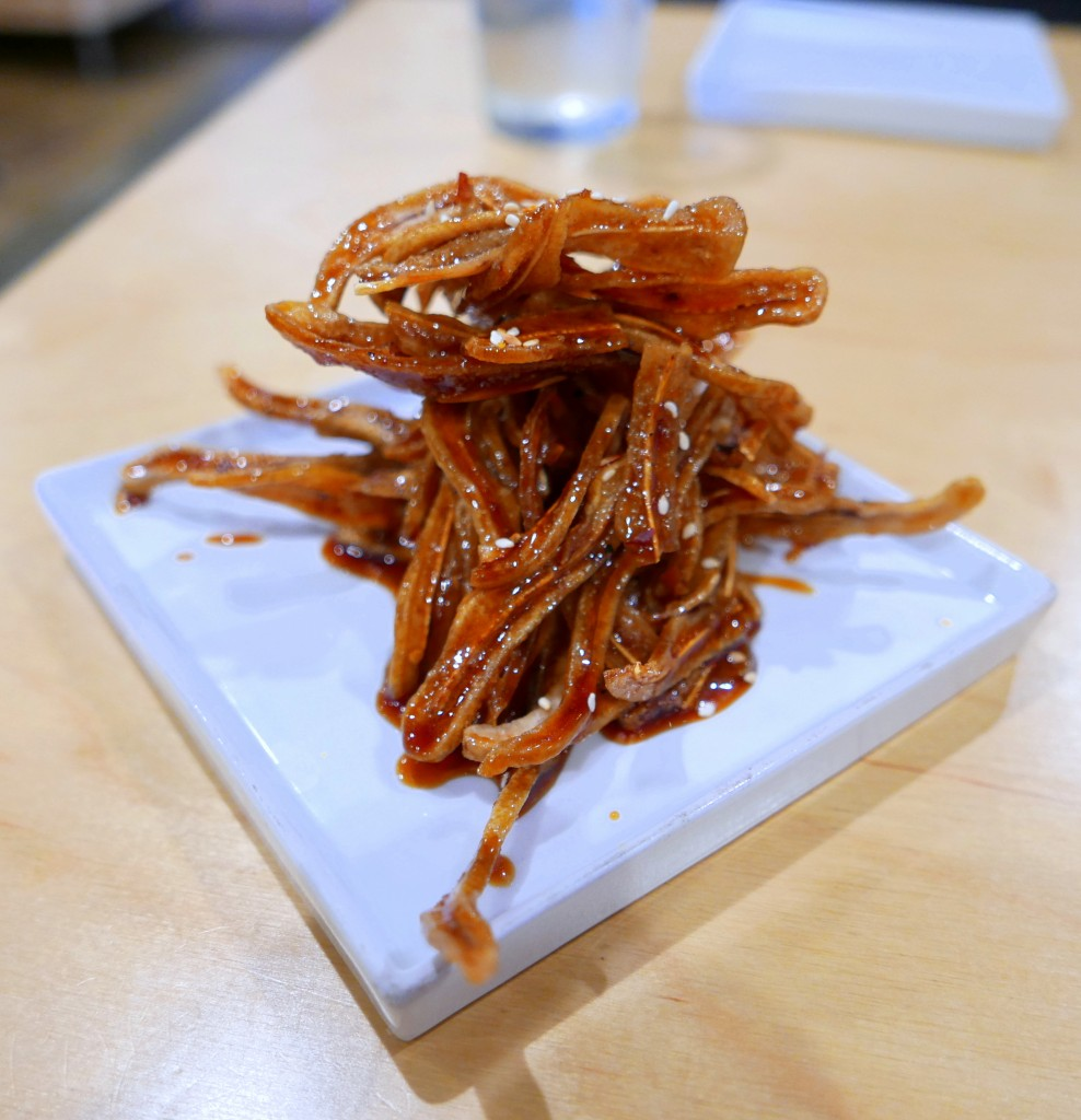 Fried pig ears in General Tso sauce
