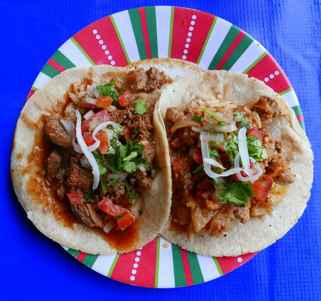 Barbacoa and Picadillo tacos 3