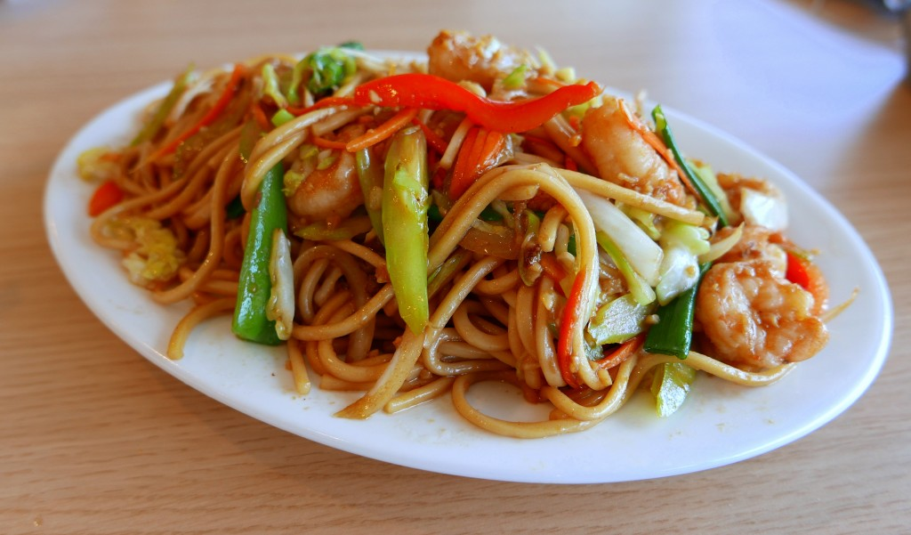 Fried noodles with shrimp