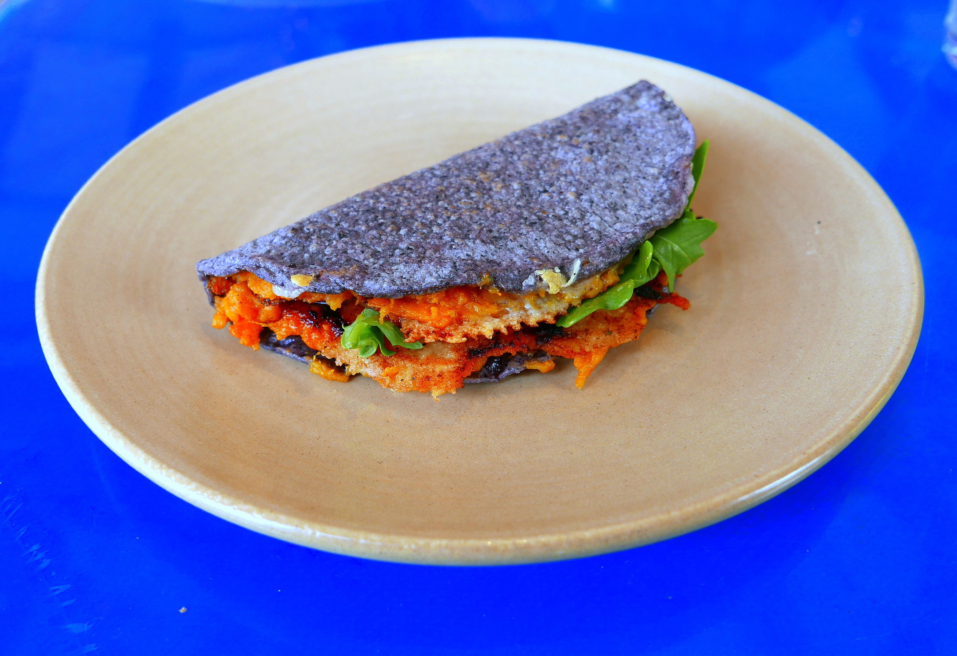 Wood Roasted Sweet Potato jack cheese, arugula, salsa arbol taco