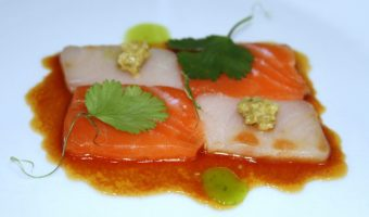 RECIPE:  Salmon and Yellowtail Crudo with Tapanade