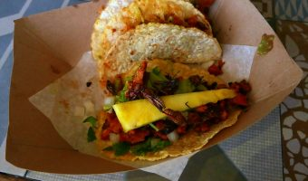 WORLD FARE:  Tacos Perla's nails TJ-style street tacos