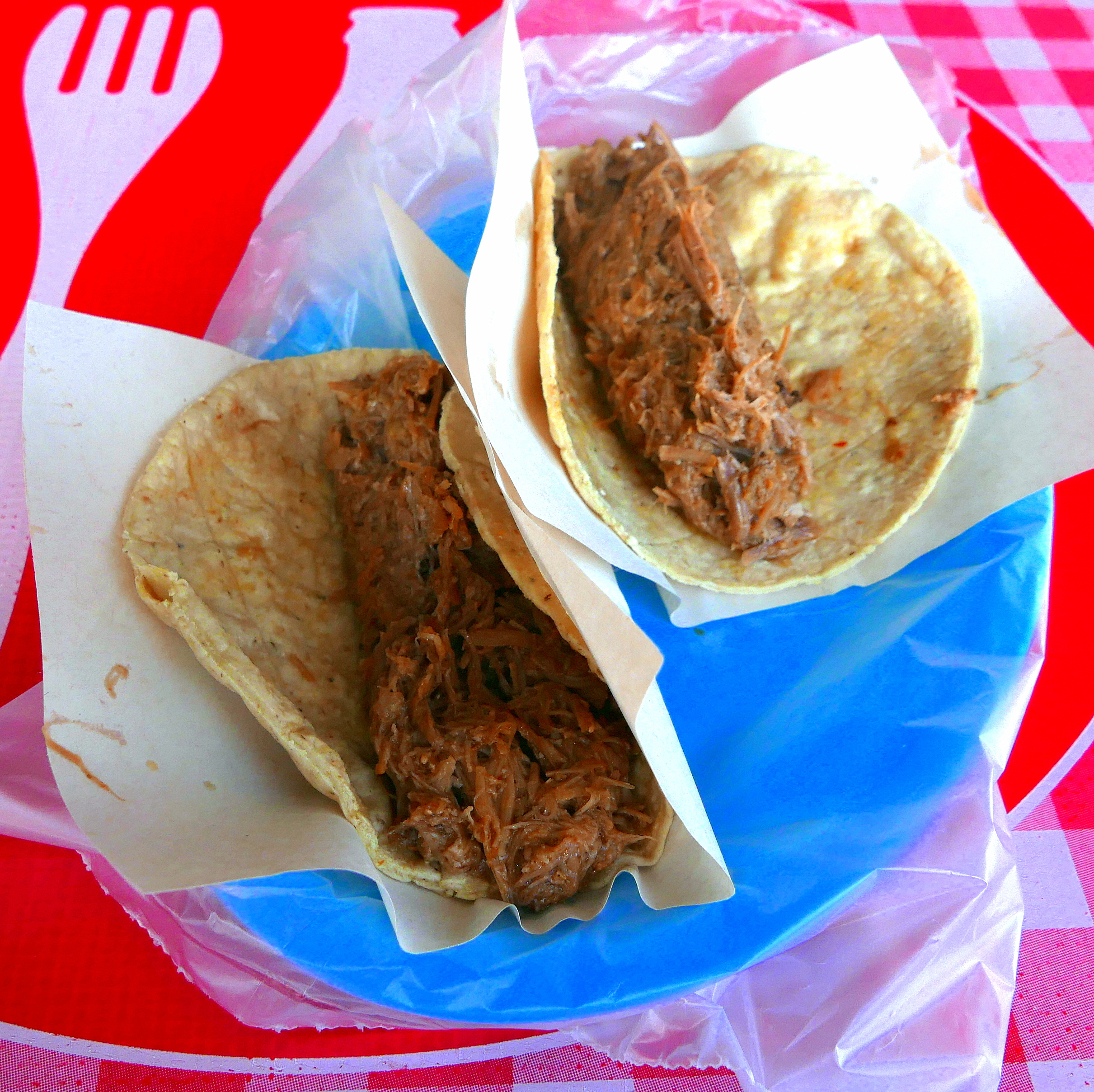 Tacos de Borrego as they arrive
