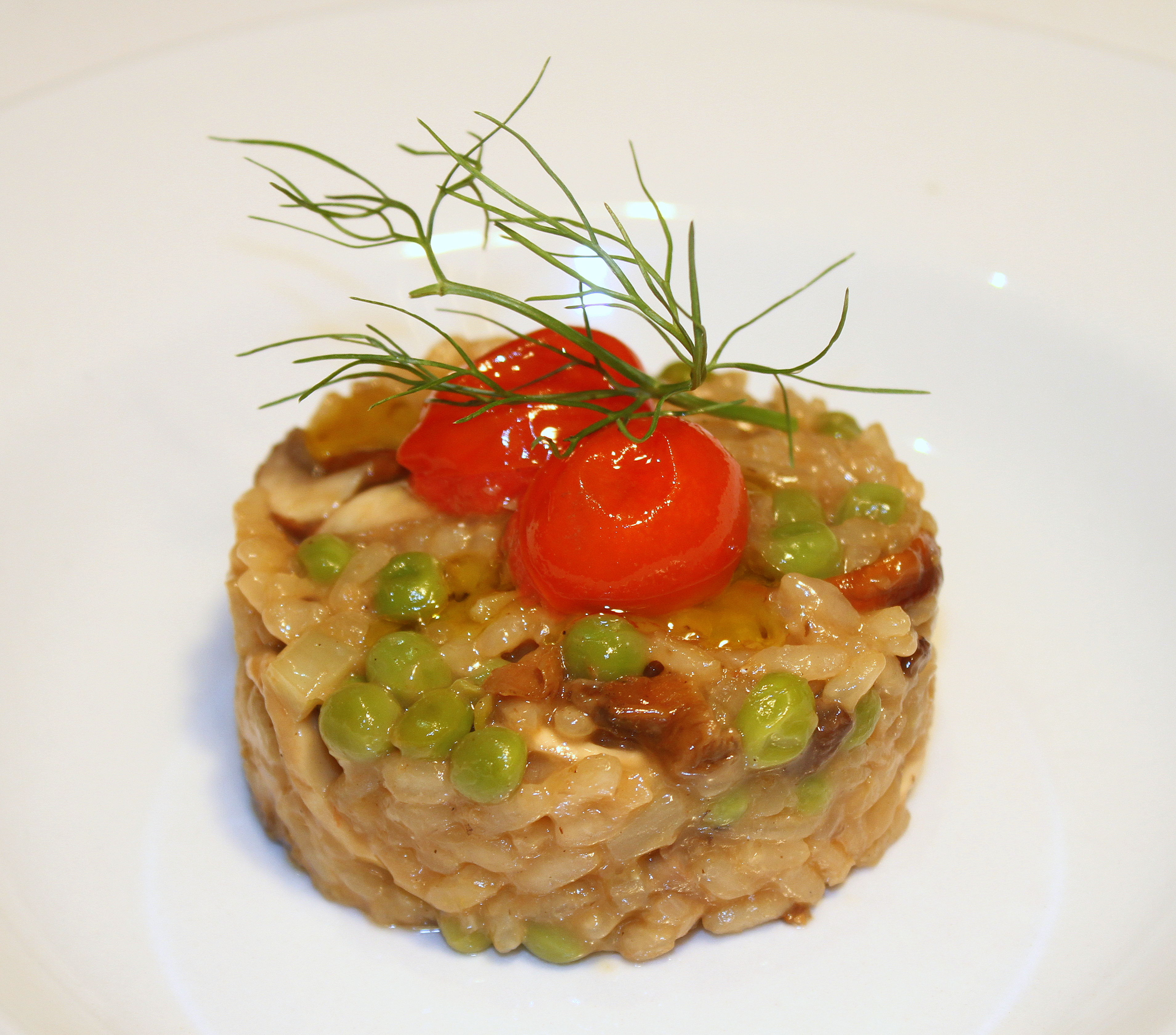 Risotto of Mushrooms, Peas and Tomato Confit 2