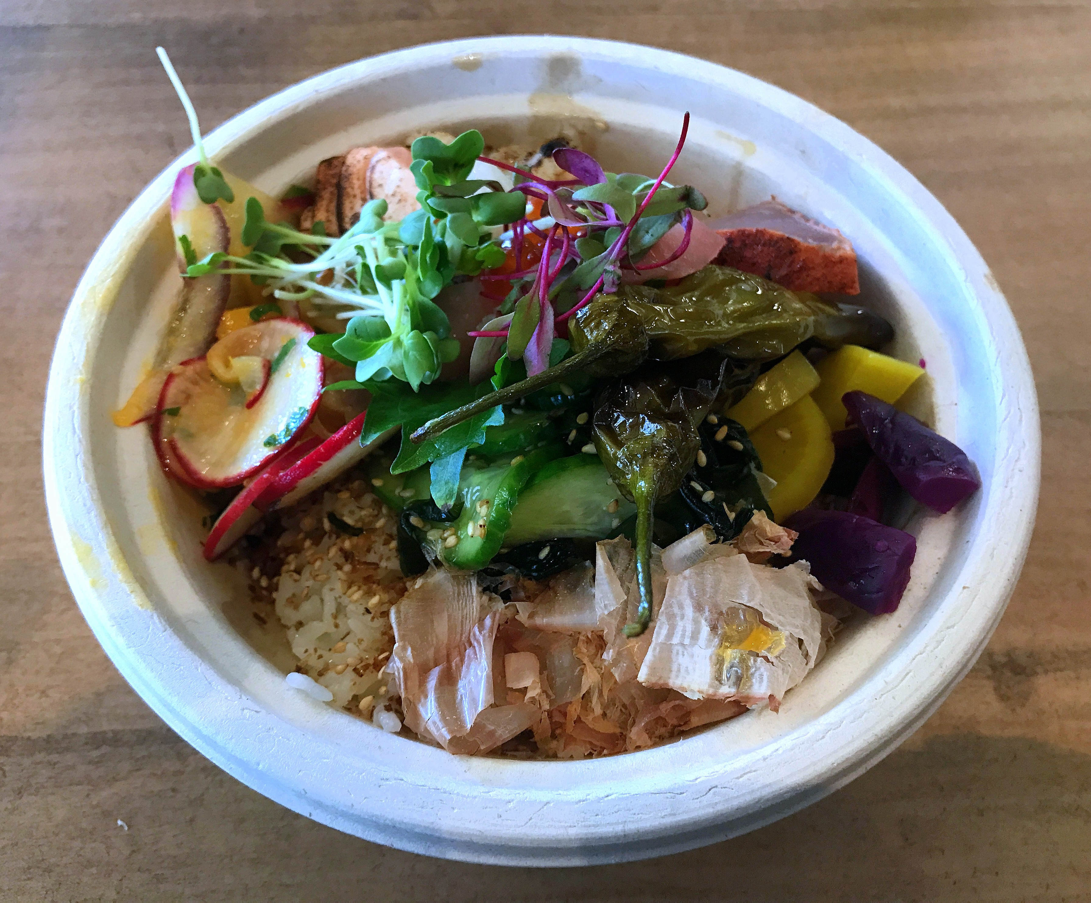 Single Fin Donburi bowl at Little Italy Food Hall