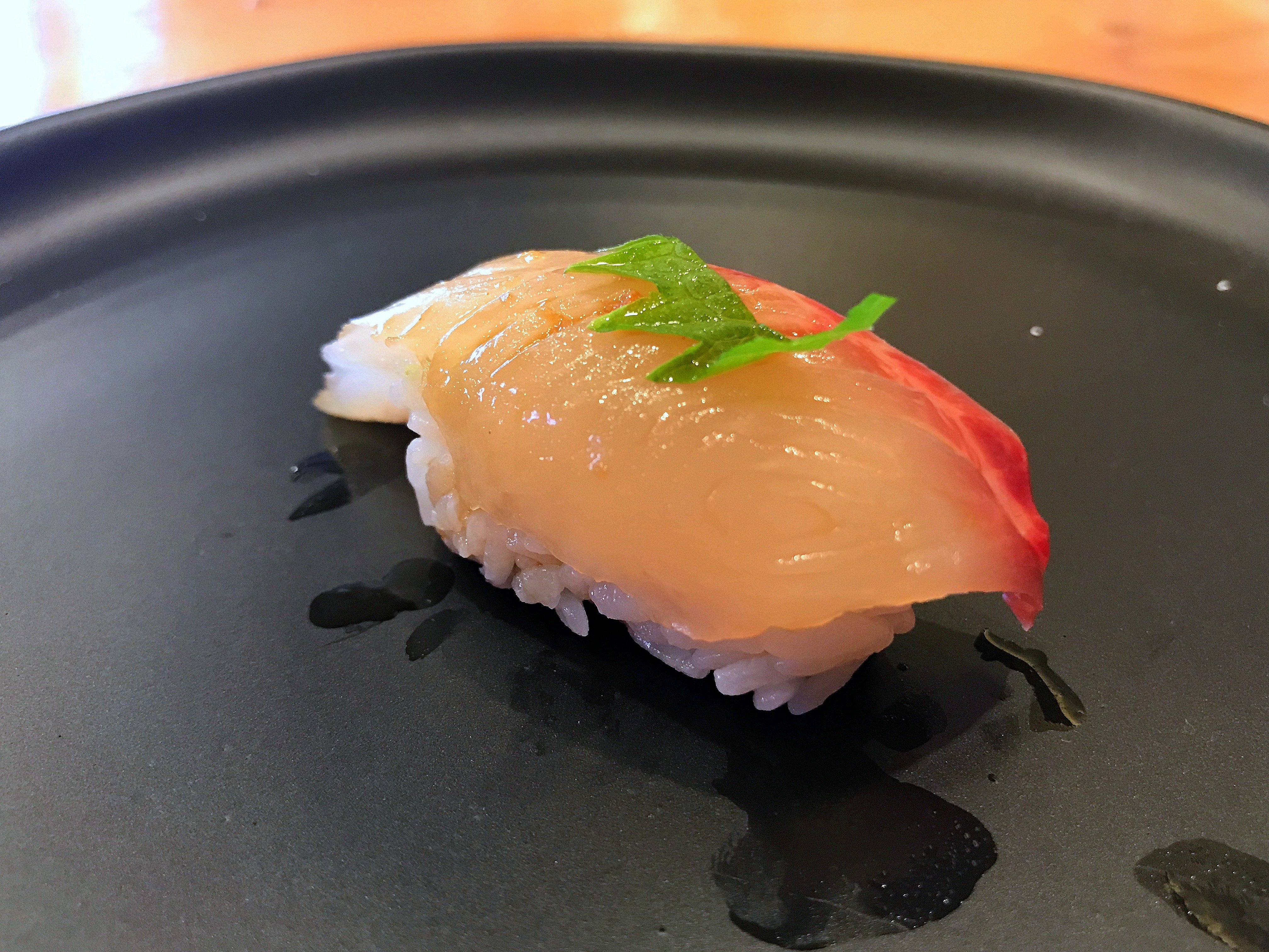 Kampachi with Truffle Oil at Hidden Fish