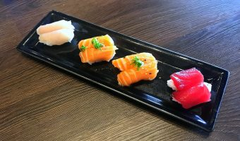 WORLD FARE: At Little Sakana, how much pre-cut sushi is too much?