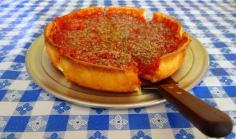 WORLD FARE:  Deep dish is the specialty at Chicago Brothers Pizzeria