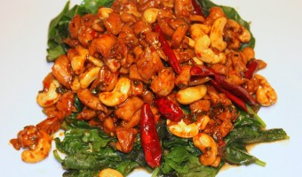 KOSHER CHINESE:  its not just for Christmas — Kung Pao Chicken | Cashews | Greens