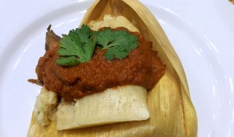 RECIPE:  Pork, Poblano and Corn Tamales Roasted Tomato-Jalapeño Salsa