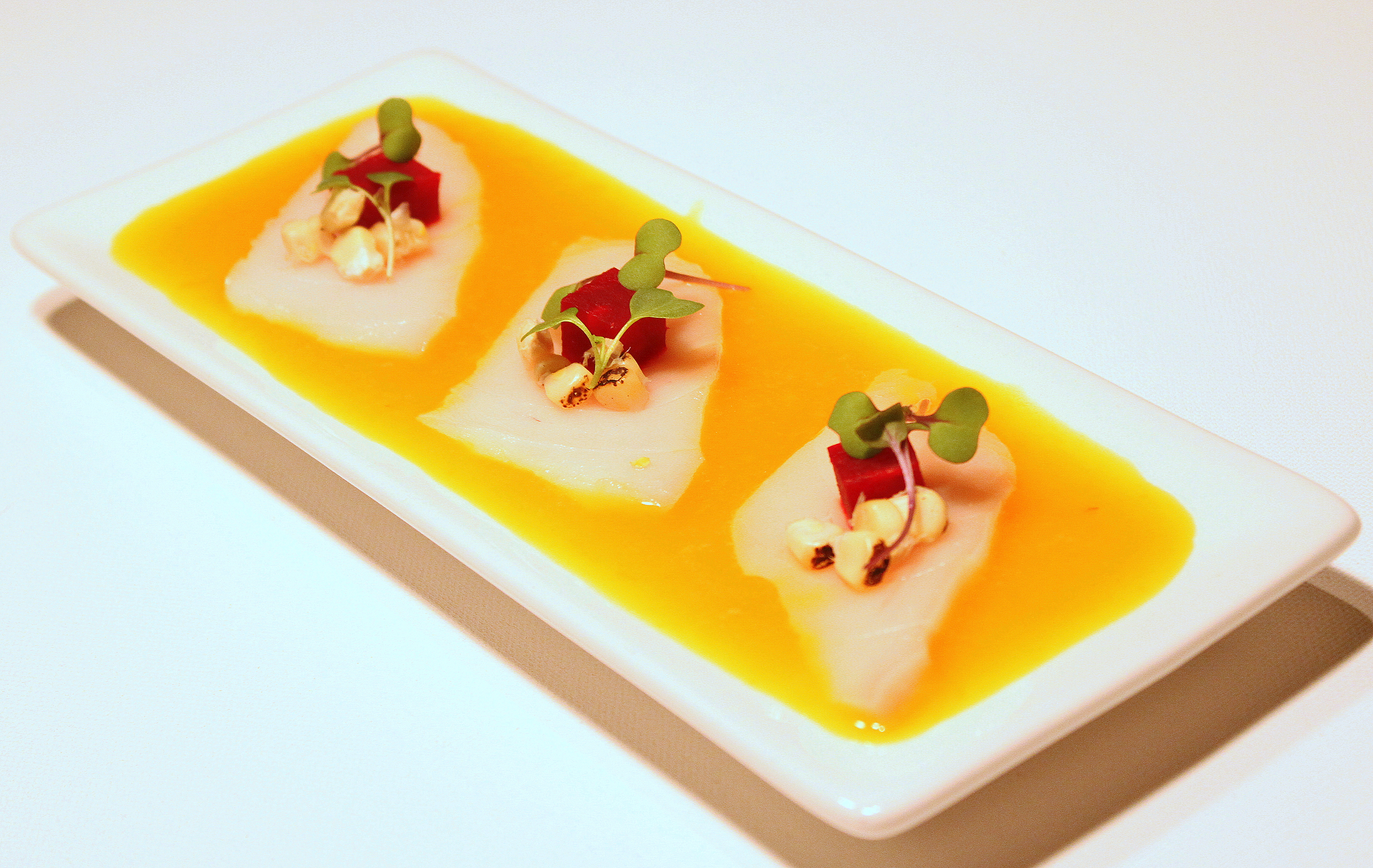 tiradito-of-escolar-with-roasted-beet-and-corn-13