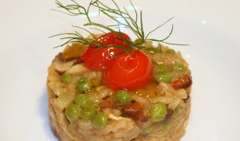 It's not Chopped: Risotto of Mushrooms, Peas and Tomato Confit
